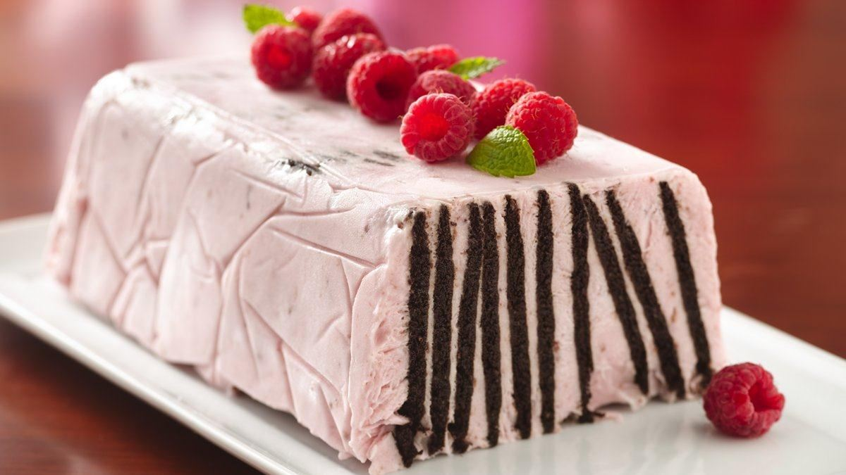 Frozen Chocolate Wafer Raspberry Torte Recipe
