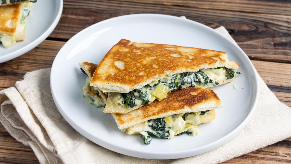 Spinach-Artichoke Grilled Cheese Sandwiches recipe from Pillsbury.com
