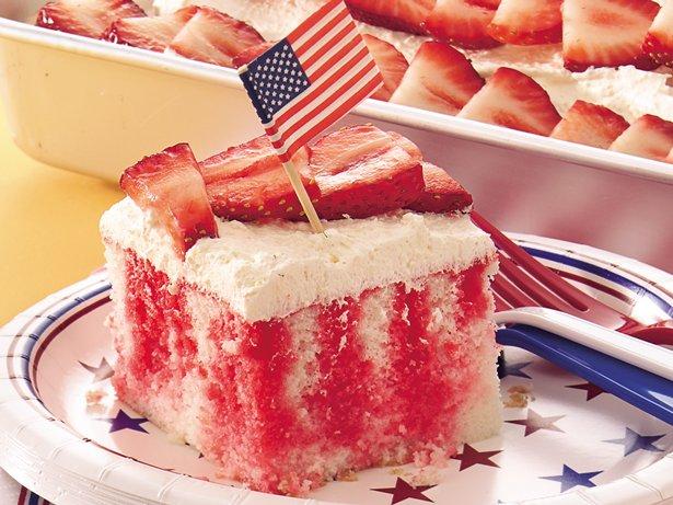 Chocolate Strawberry Jello Cake Recipe: Red, White And Blue Poke Cake Recipe From Betty Crocker