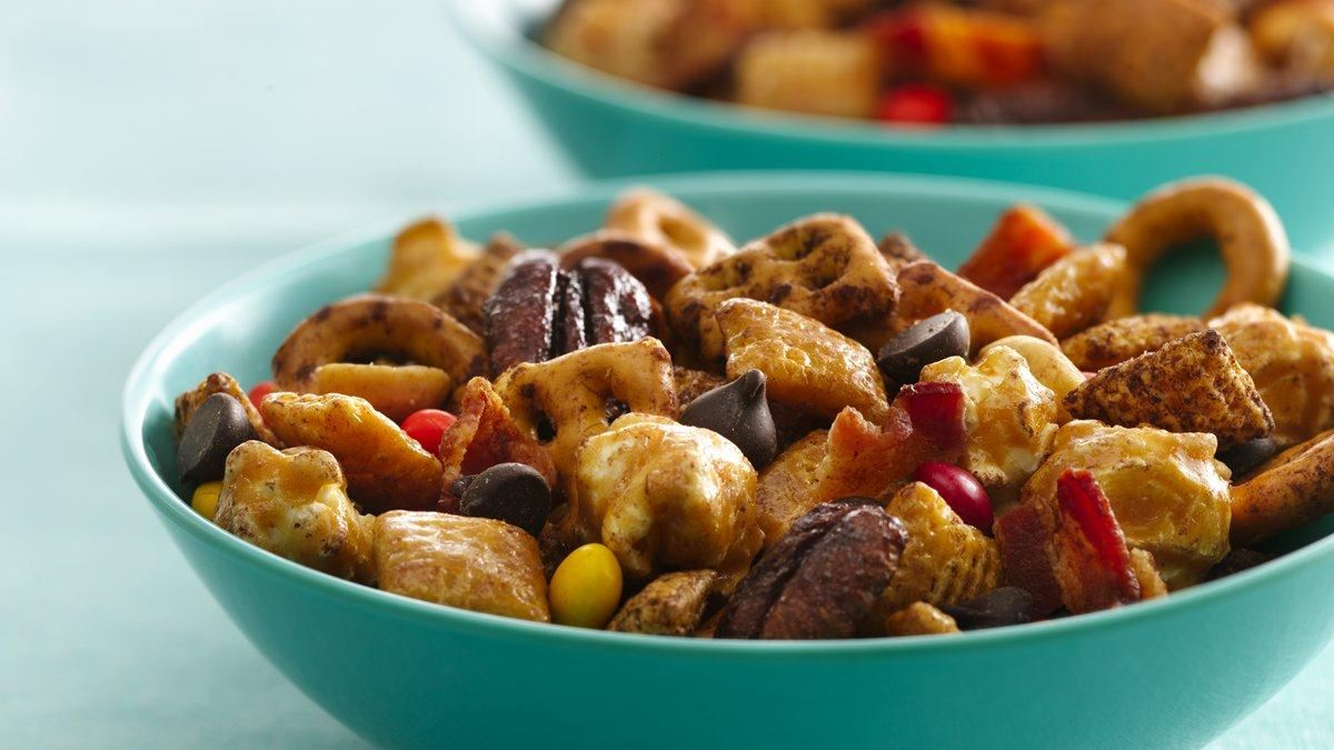 Dark and Salty Chex Mix