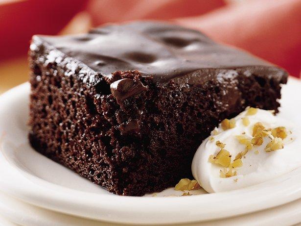 Chocolate Cherry Pudding Cake