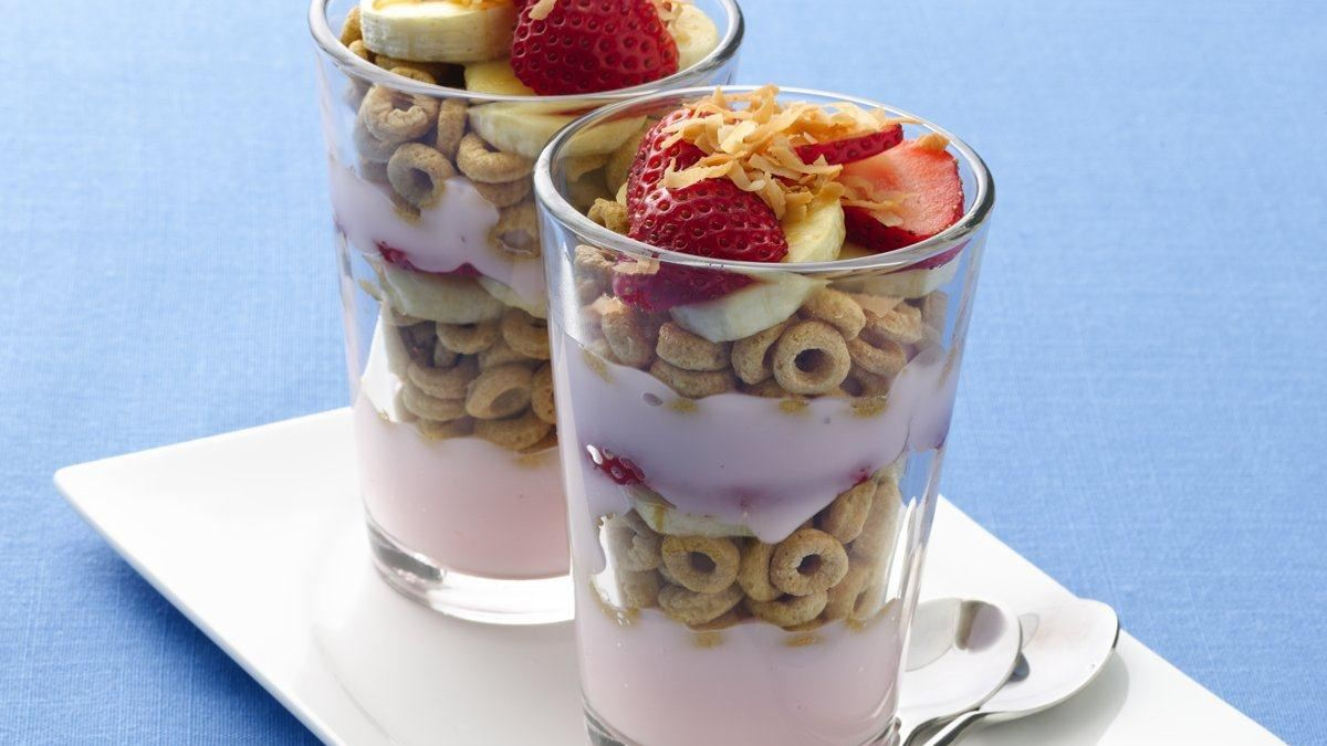Tropical Banana Nut Parfaits