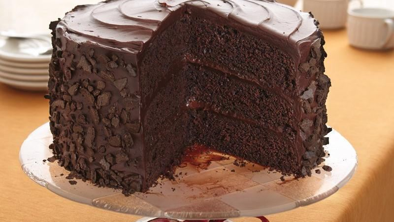 "Devil S Food Cake With Chocolate Fudge Frosting Recipe: ""All-the-Stops"" Chocolate Cake Recipe From Betty Crocker"