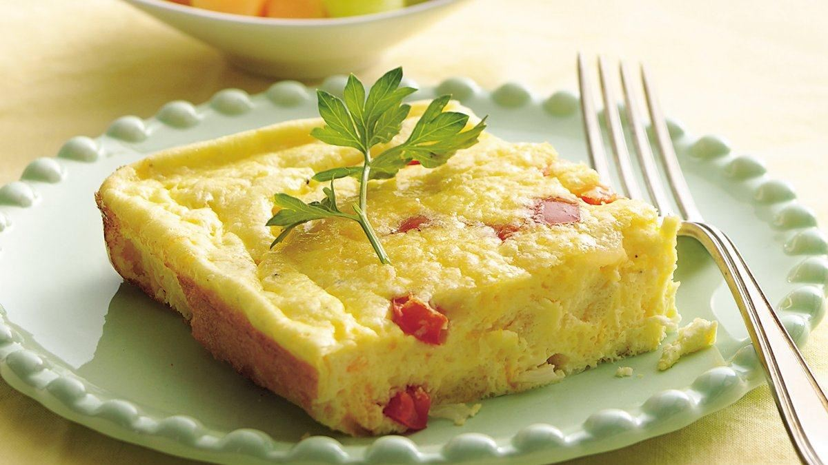 Cheesy Baked Supper Omelet