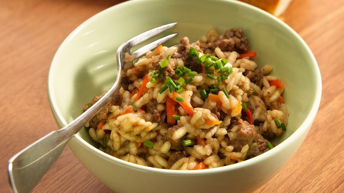 Ground Beef Risotto