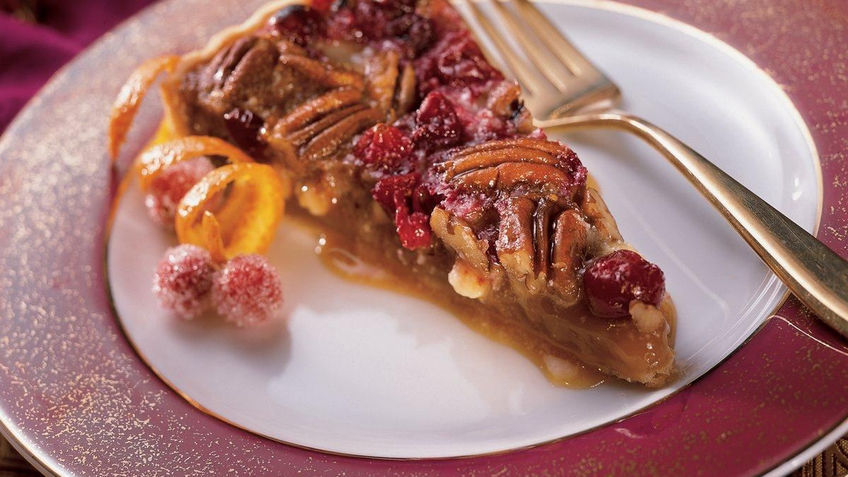 White Chocolate Cranberry Pecan Tart