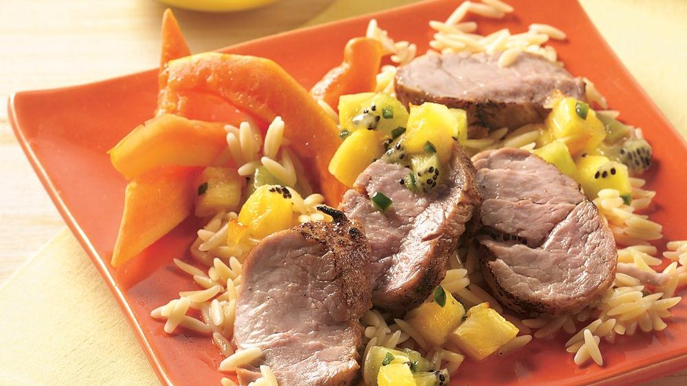 Grilled Pork Tenderloin with Pineapple Salsa recipe from