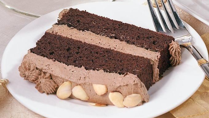 Layered Cake Recipes With Fillings: Chocolate Almond Mousse Cake Recipe
