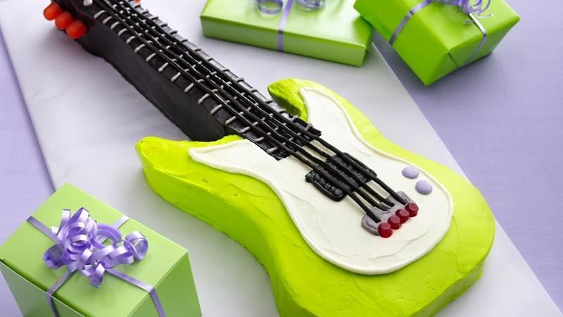 How To Make An Electric Guitar Shaped Cake