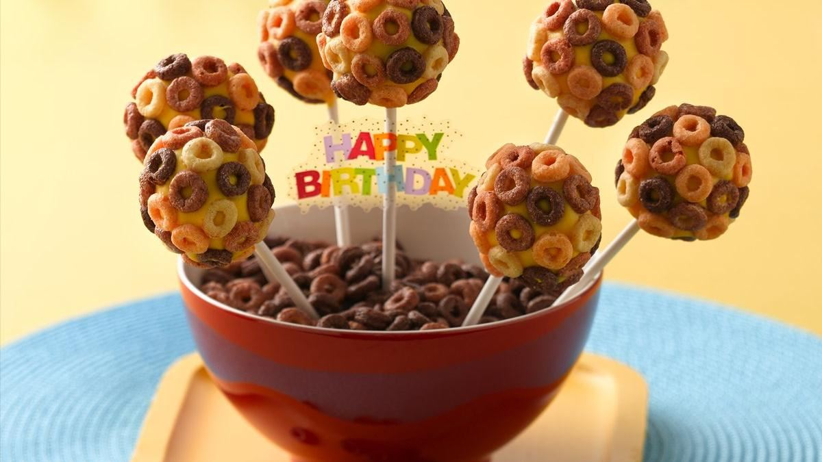 Cheerios Banana Cake Pops