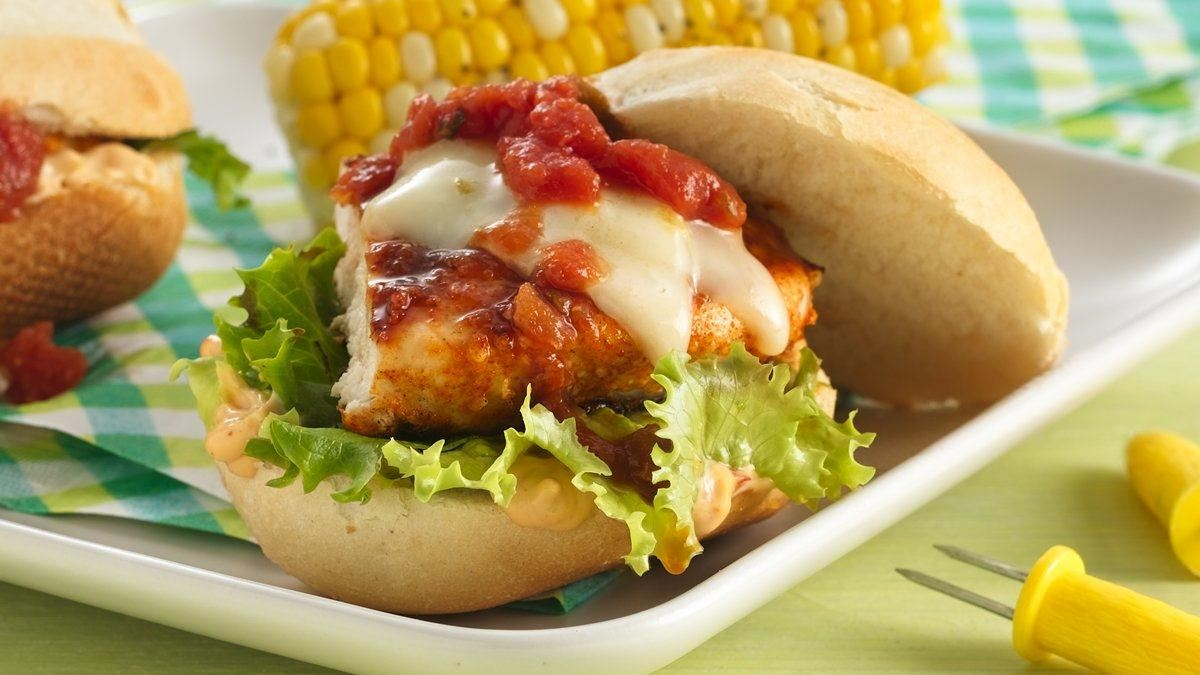 Fiesta Grilled Chicken Sandwiches