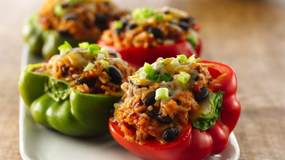 Spicy Chorizo-Stuffed Peppers