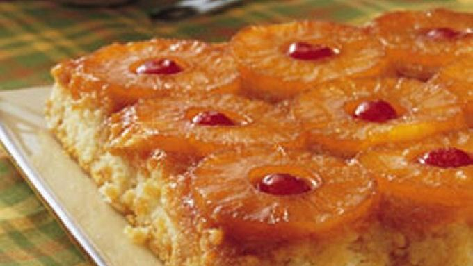 Pineapple Upside Down Cake With Sour Cream
