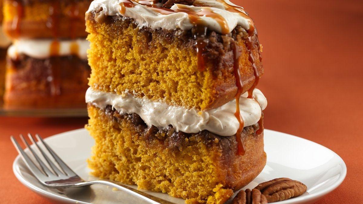 Gâteau praliné à la citrouille