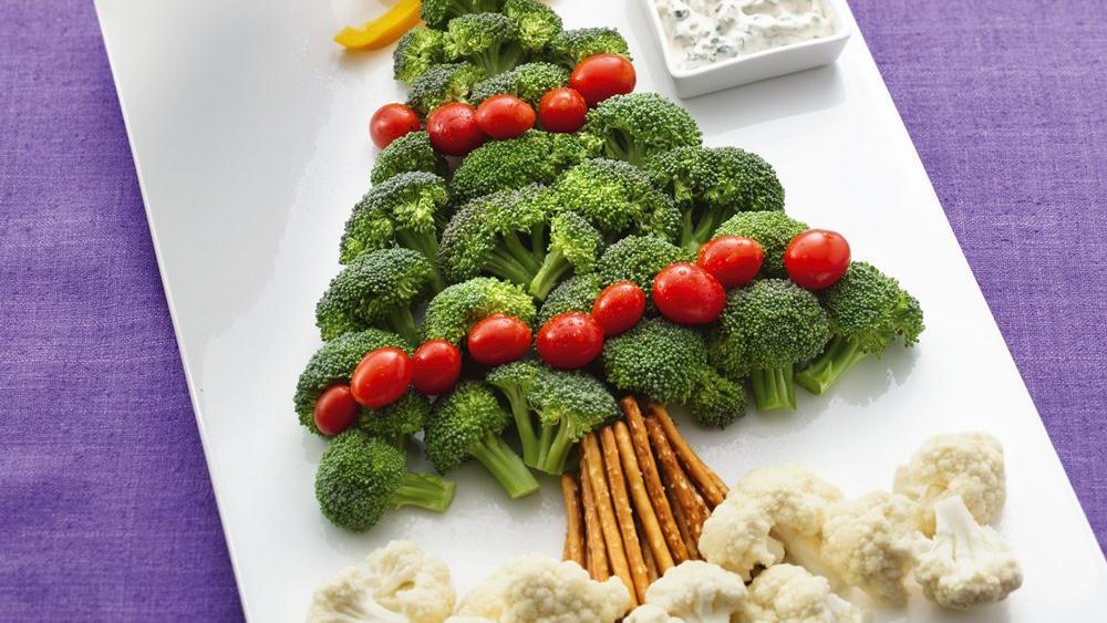 Christmas Tree Vegetable Platter Recipe From Pillsbury.com