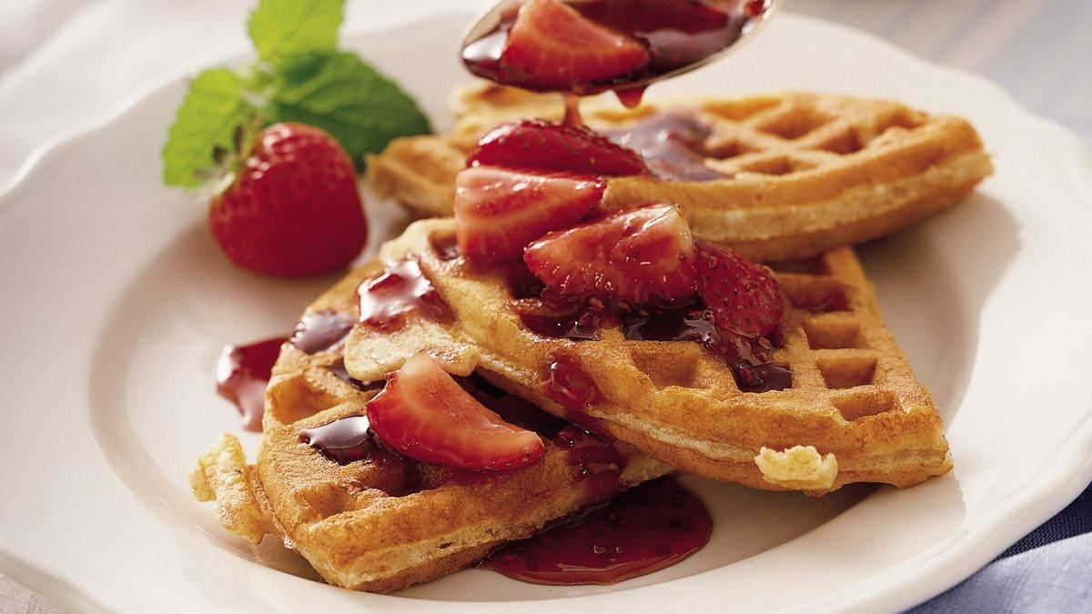 Whole Wheat-Granola Waffles