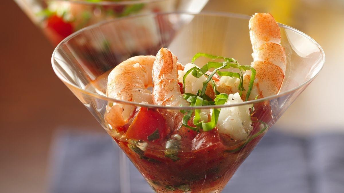 Shrimp and Tomato Martinis