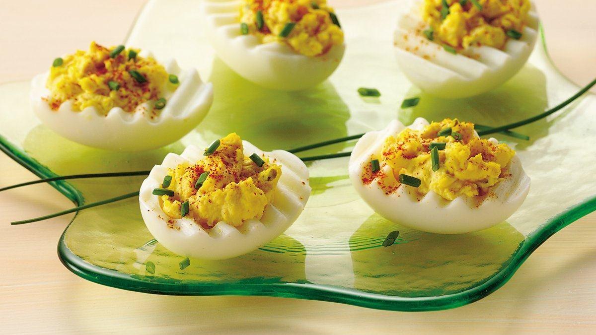 Chive 'n Onion Deviled Eggs Recipe (Gluten Free)
