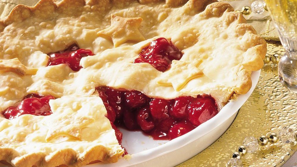 Raspberry-Cherry Pie recipe from Pillsbury.com