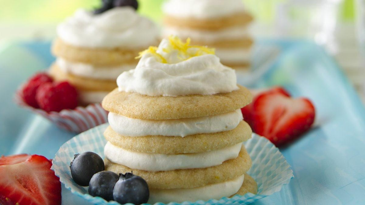 Lemon-Ginger Icebox Cookie Cupcakes - Life Made Delicious