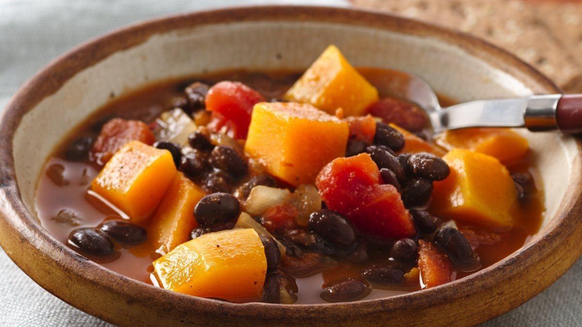 Soupe à la courge et aux graines de soja