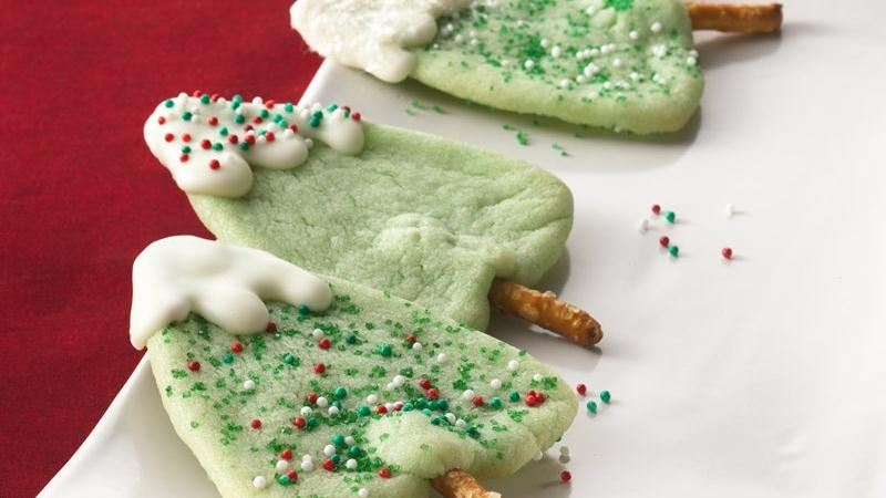 Snow-Capped Christmas Tree Cookies Recipe From Betty Crocker