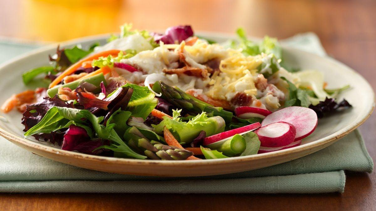 Fennel-Asparagus Seven-Layer Salad
