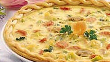 Chicken Asiago Spinach Quiche Recipe From Pillsbury Com