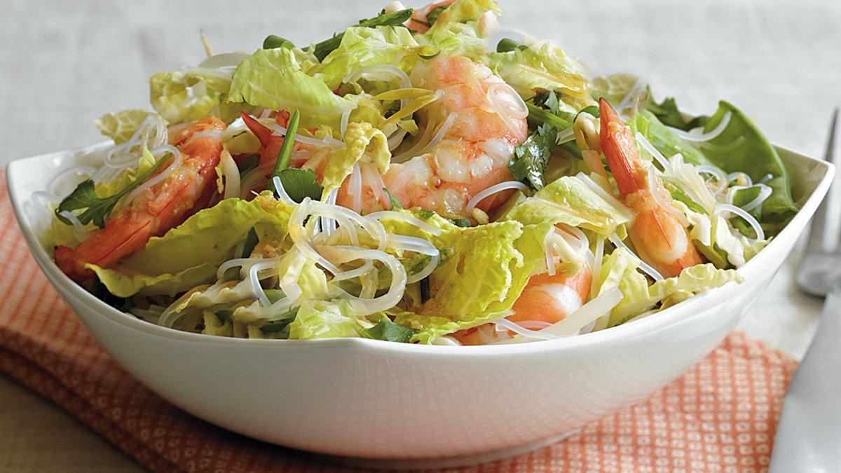 Asian Shrimp and Noodle Salad