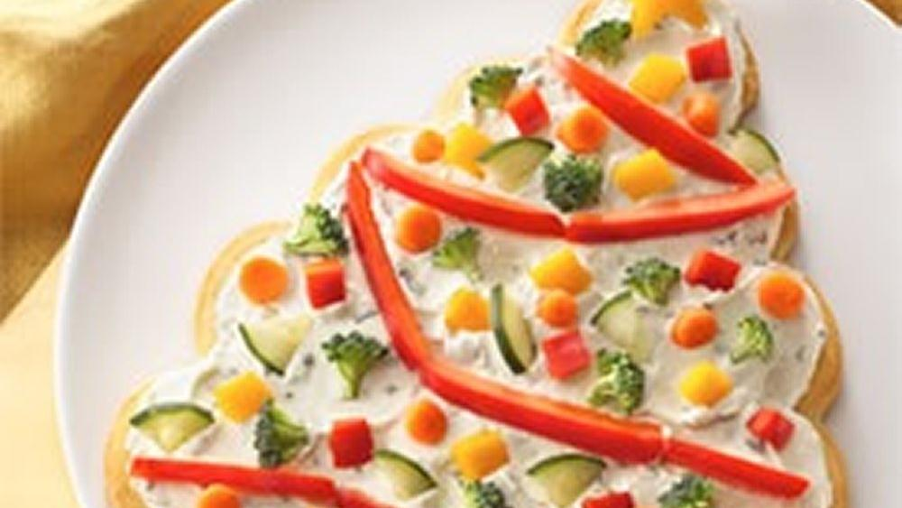 Tree-Shaped Crescent Veggie Appetizers Recipe From