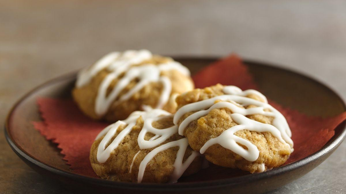 Pumpkin Pecan Spice Cookies