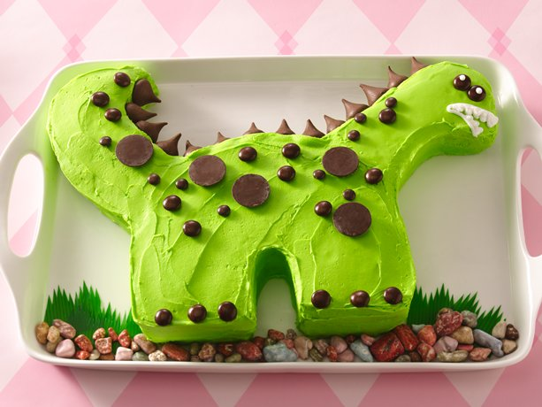 Rex the dinosaur cake recipe betty crocker for How to make a dinosaur cake template