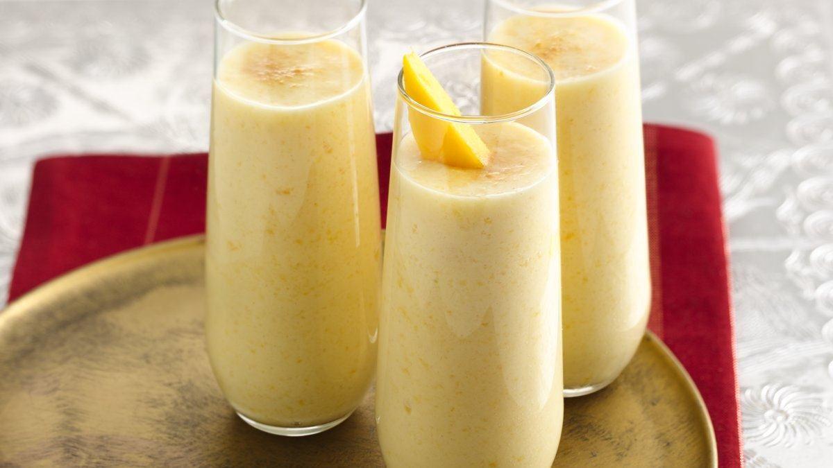 Lactose Free Peach-Mango Lassi