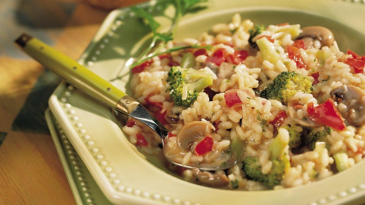 Red Pepper and Broccoli Risotto (Gluten Free)