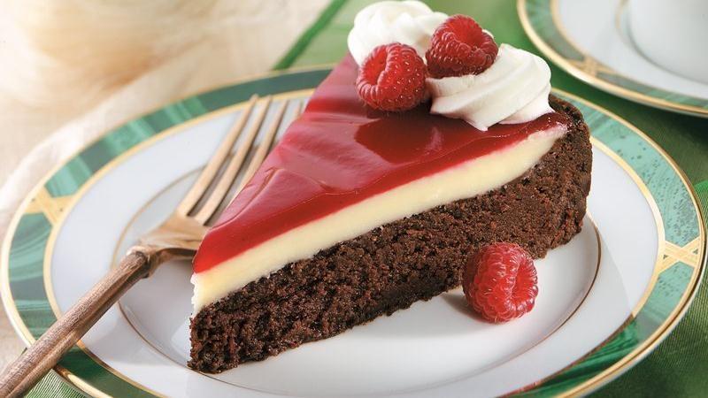 Raspberry Glazed Double Chocolate Dessert Recipe From