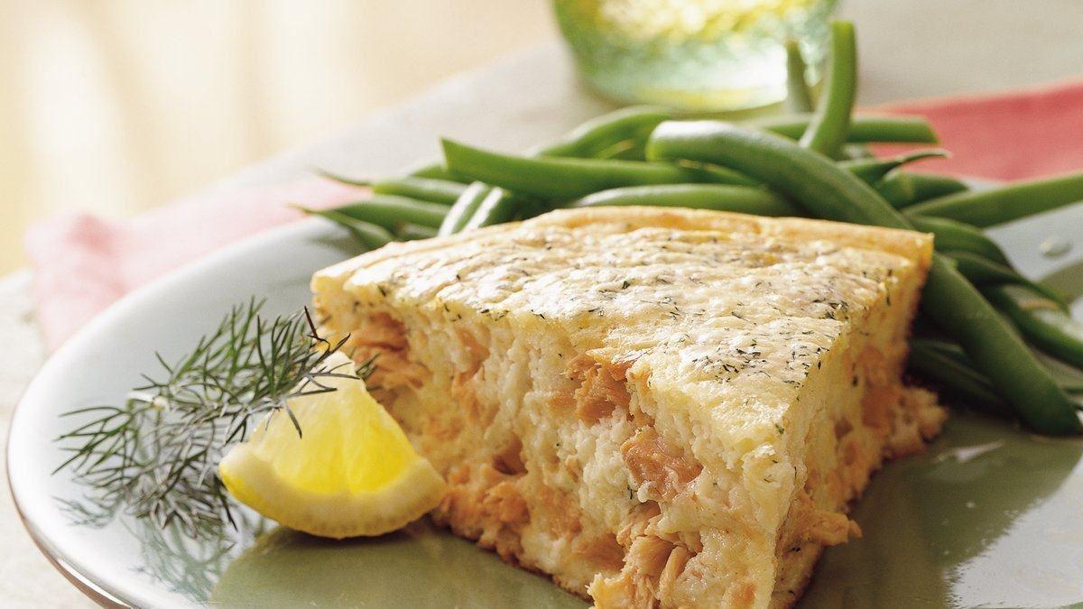 Tarte soufflée au saumon facile à faire