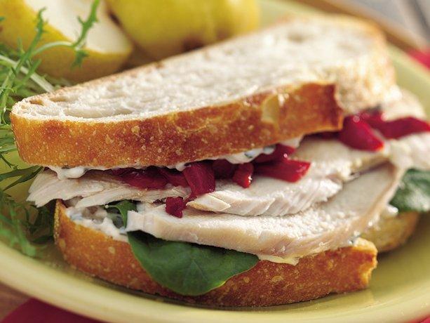 special garlic basil mayo dresses up a cool turkey sandwich prep ...