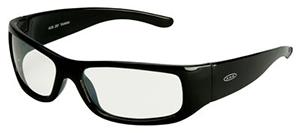 3M Moon Dawg Protective Eyewear, Mirror Lens, Black Frame