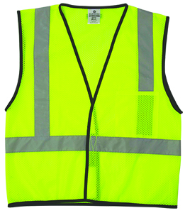 Economy Series 1-Pocket Mesh Vest - Lime - S/M
