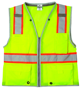 1510 Lime Brilliant Series Heavy Duty Class 2 Vest - Large