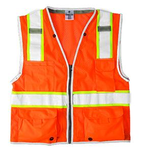 1511 Orange Brilliant Series Class 2 Heavy Duty Safety Vest - Medium