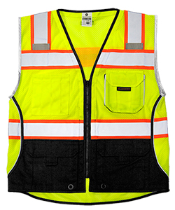 1515 Lime Ultra Cool Black Bottom Vest - Medium