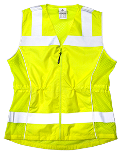 1521 Lime Deluxe Ladies Class 2 Fitted Vest - X-Large