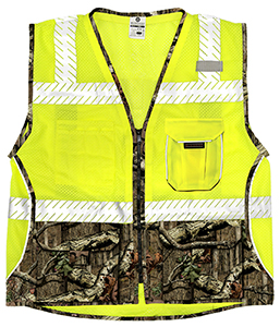 1523 Lime Heavy Duty Mossy Oak Break-Up Infinity Vest - Large