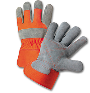 Select Split Cowhide Leather Double Palm Gloves