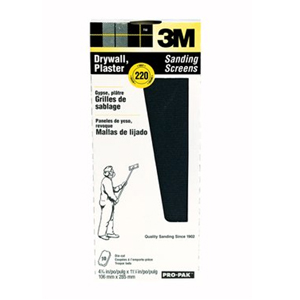 3M Drywall Sanding Screens Pro-Pak 99436, 220 grit
