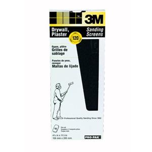 3M Pro-Pak Drywall Sanding Screens 99438, 120 grit