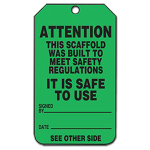 Scaffold Status Tag - Green