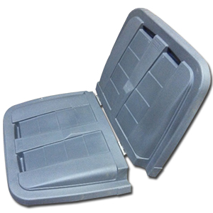 Removable Split Lid for Toter 1/2 cu. yd. Trash Truck