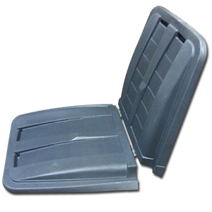 Removable Split Lid for Toter 1 cu. yd. Trash Truck